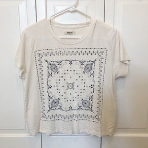 Madewell slightly-cropped tshirt size small!